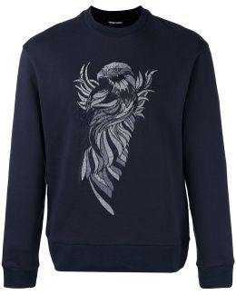 Embroidered Eagle Sweatshirt