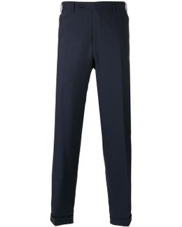 Regular Pleated Trousers