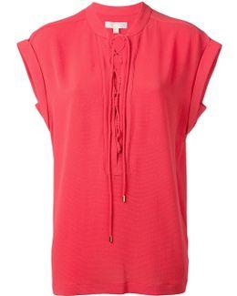 Lace-up Neck T-shirt