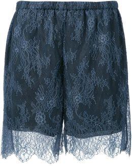 Elasticated Waistband Lace Shorts