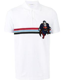 'superman' Print Polo