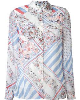 Patchwork Print Shirt