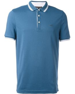 Contrast Trim Polo Top