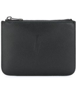 Embossed Thunderbolt Wallet