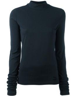 High-neck Elongated Sleeve Top