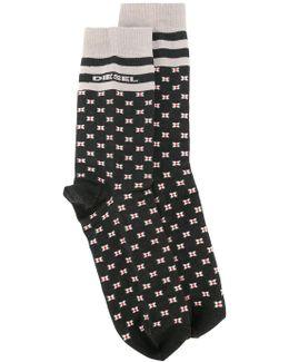 Square Pattern Socks