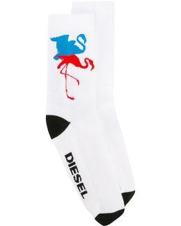 Flamingo Pattern Socks