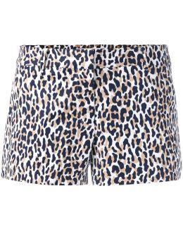 Thora Animal Print Shorts