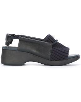 Ribbed Trim Sandals