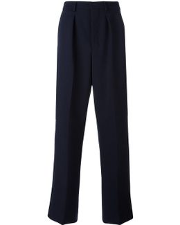 Box Pleated Wide Trousers