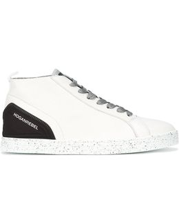 Speckled Sole Lace-up Sneakers