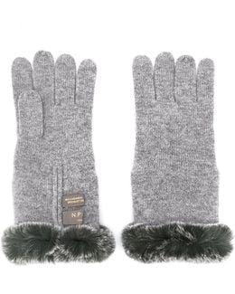 Fur Trim Gloves