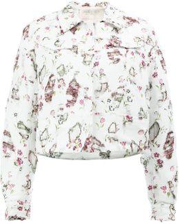 Distressed Floral Jacket