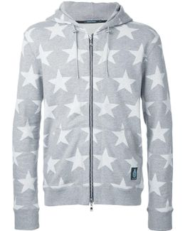 Stars Print Hooded Jacket