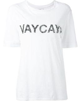 'vaycay' Print T-shirt