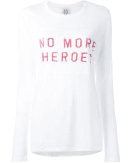 'no More' Print T-shirt