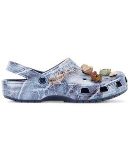 Stone (grey) Embellished Crocs