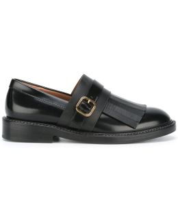 Monk Strap Fringed Loafers