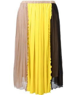 No21 Colour Block Pleated Skirt
