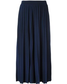 Wide Pleated Crop Trousers