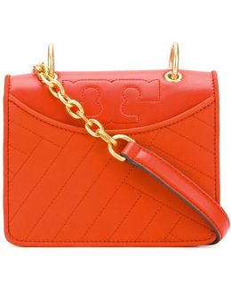 Diagonal Stitch Shoulder Bag