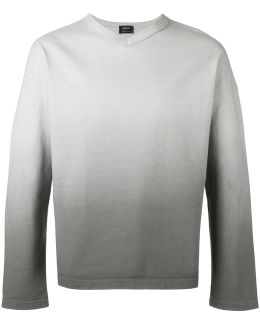 Ombre V-neck Sweater