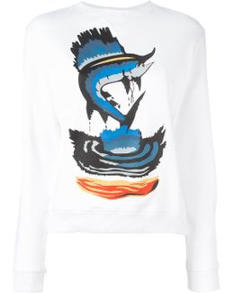 Fish Print Sweatshirt