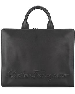 Embossed Logo Briefcase