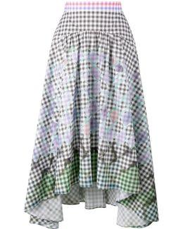 Diamond Print Gingham Skirt