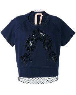 Lace-panelled Sweatshirt