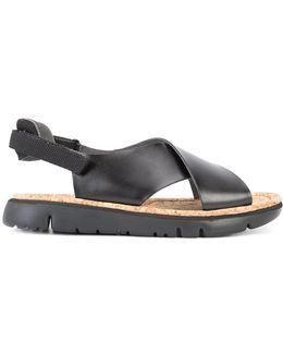 Criss Cross Platform Sandal