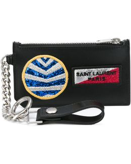 Paris Fragments Multi-patch Keyring Zip Pouch