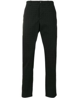 Perforated Chino Trousers