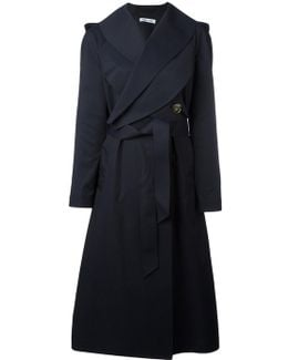 Crossed Front Belted Coat
