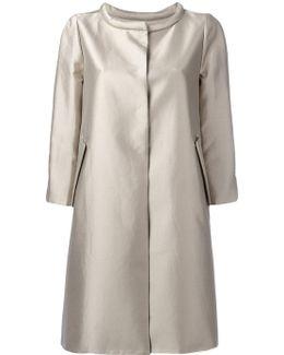 Metallic Concealed-placket Coat