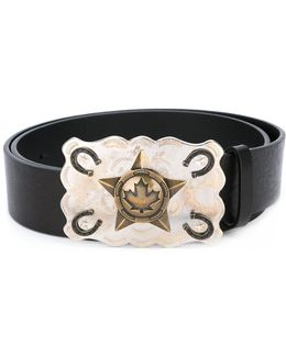 Cowboy Star Buckle Belt