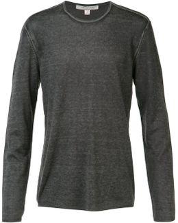 Reverse Print Long Sleeve Sweater
