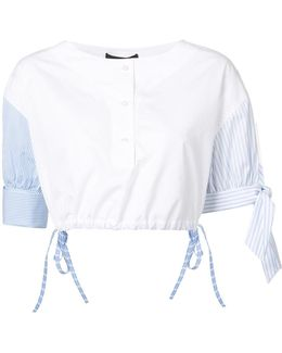 Henley Cropped Shirt