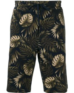 Leaves Print Sweatshorts