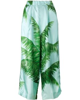 Palm Leaf Print Pyjama Trousers