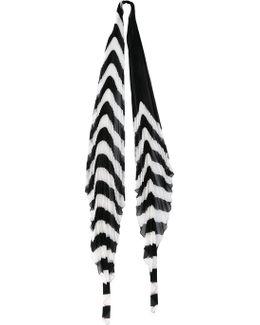 Orio Stripe Pleated Scarf