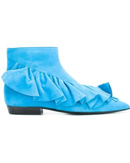 Ruffled Ankle Boots