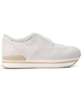 Perforated Detail Platform Sneakers