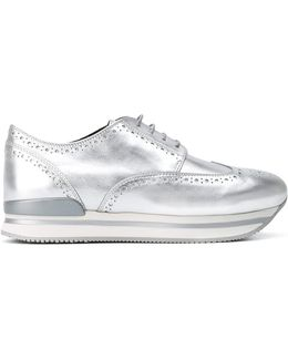 Metallic Platform Sneakers