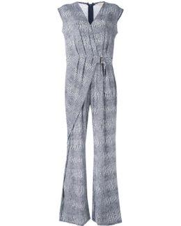 Zephyr Print Wrap Jumpsuit