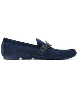 Logo Plaque Loafers