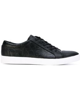 Logo Embossed Lace-up Sneakers