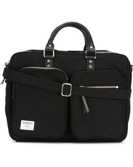 Leather Handle Laptop Bag