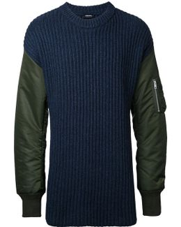 Padded Sleeve Jumper