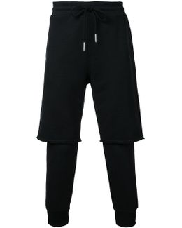 Layered Track Pants